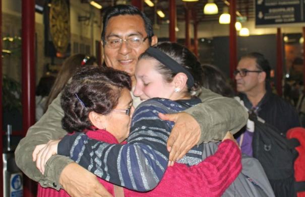 Host family hug